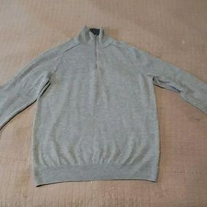 Men's Merino Wool 1/4 zip sweater